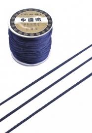 Satijnkoord ± 1mm per meter: donkerblauw