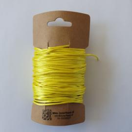 Satijnkoord ± 1,5mm per 10 meter: geel
