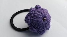 Haarelastiek Zeeuwse Knop paars