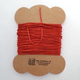 Satijnkoord  ± 1,5mm ca. 10 meter:  roest-oranje