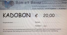 Kadobon € 20,00