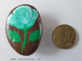 Stenen magneet bloem Groen