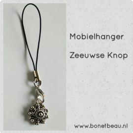 Mobielhanger - mini sleutelhanger Zeeuwse Knop Zwart