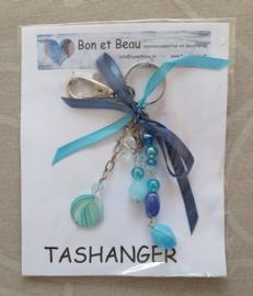Tas - Sleutelhanger Aqua blauw