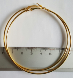 Creolen goudkleurig 70mm