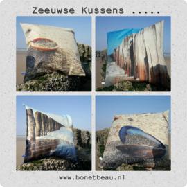 Kussenhoes Bon et Beau Schelp