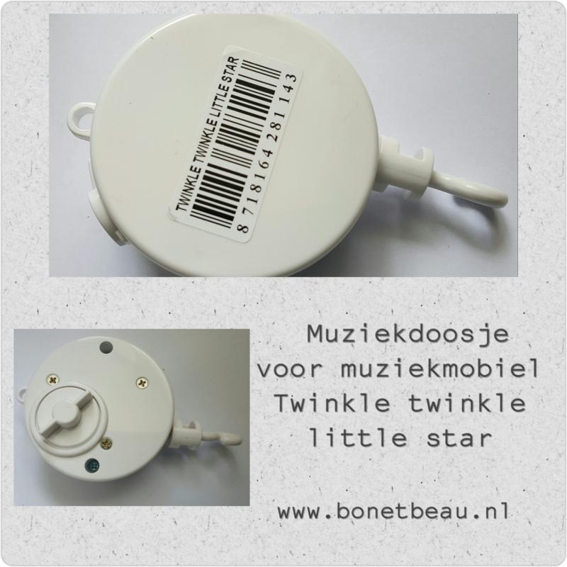 Muziekdoosje voor aan Muziekmobiel Twinkle Twinkle little Star