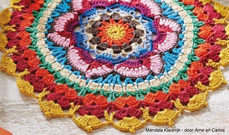 Haakpatroon Mandala Kleurrijk GRATIS