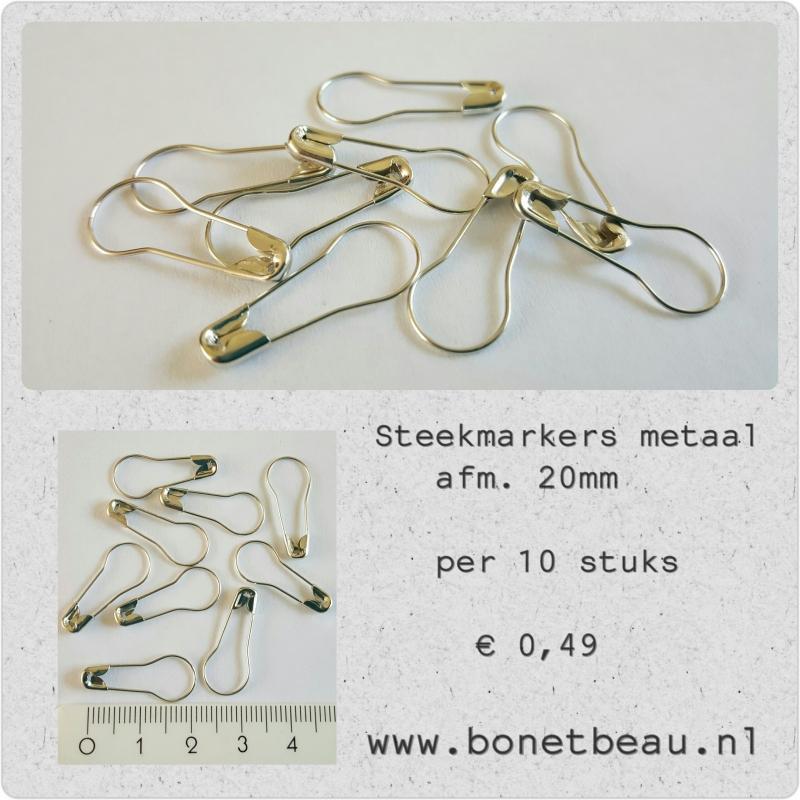 Metalen steekmarkers per 10 stuks