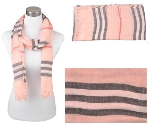 Voile sjaal, ca.190x90cm Zalmrose
