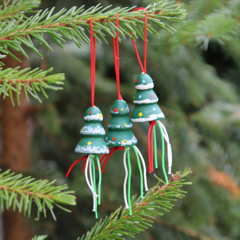 Gelukspoppetje Kerstboom per 3 stuks