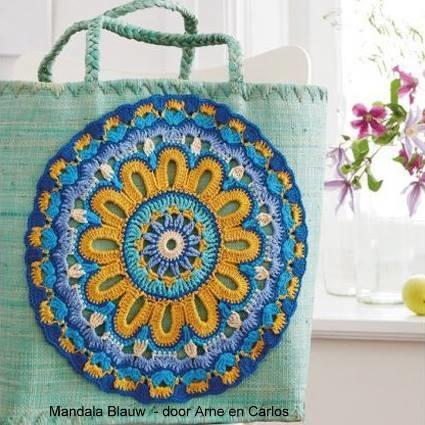 Haakpatroon Mandala Blauw GRATIS