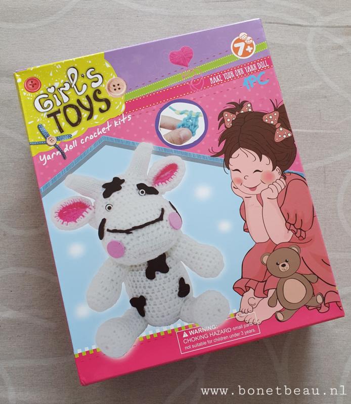 Haakpakket voor kids Koe