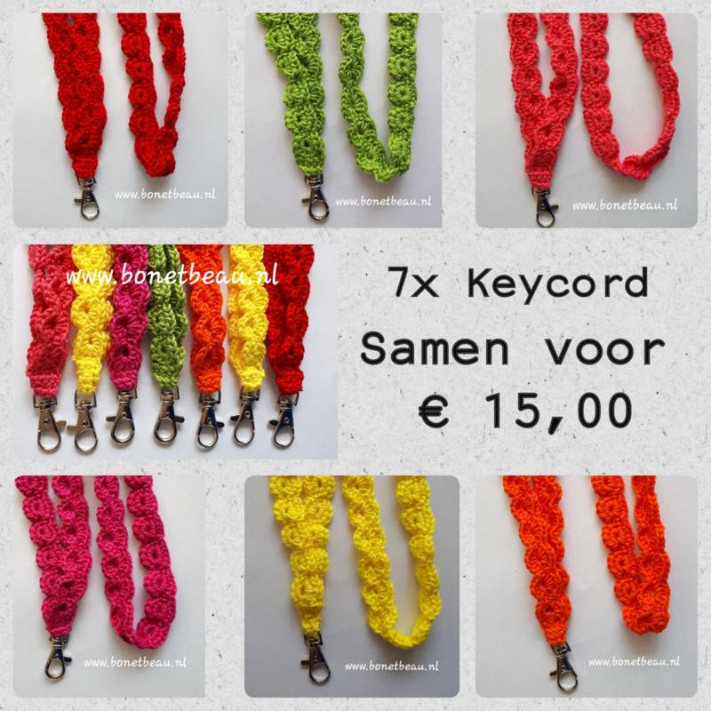 Keycords 7 stuks