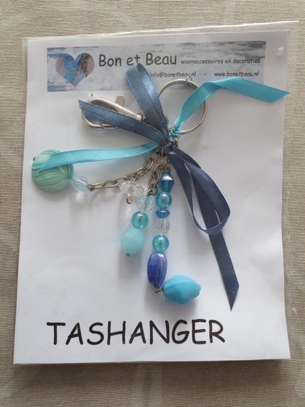 Sleutel / tashanger Aqau blauw