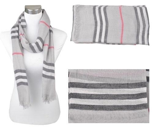 Voile sjaal, ca.190x90cm Licht Grijs