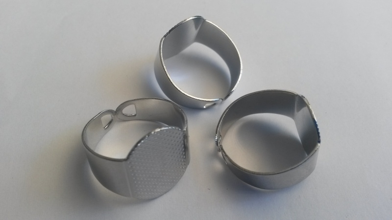 metalen vingerring voor plaksteen 10-15mm