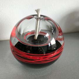 Olielamp Ozarro zwart met rode slierten