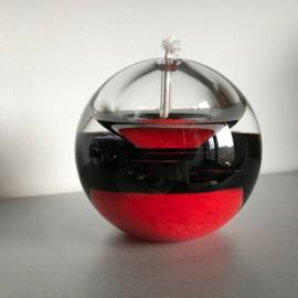 Olielamp Ozarro rood met zwarte band.
