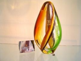 Object ovaal vorm met gekleurde linten