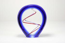 Kristal object met kleur spiraal
