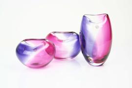 Serie Violet kristallen vazen