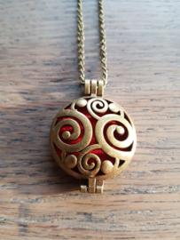 Etherische olie medallion: steampunk spirals