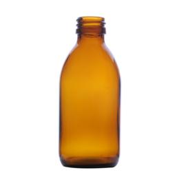 Flesje: bruin glas 150 ml