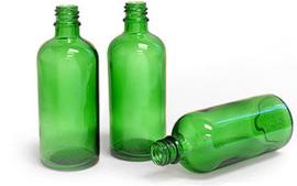 Flesje: Groen glas 50 ml