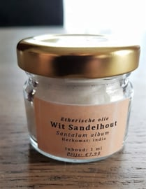 Etherische olie: Sandelhout, Wit - Santalum album  - 1ml
