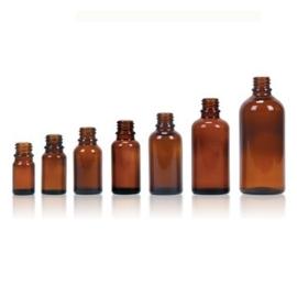Flesje: Bruin glas 50 ml