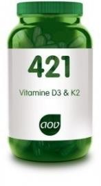 AOV 421 Vitamine D3 en K2 60 capsules
