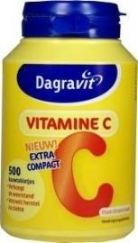 Dagravit Vitamine C citroen / vanille 500 kauwtabletten