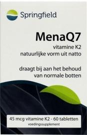 Springfield Menaq7 Vitamine K2 60 tabletten