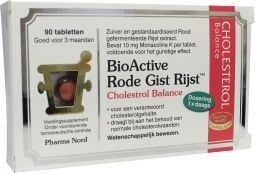 Pharmanord Bio active rode gist rijst 90 tabletten