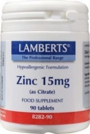 Lamberts Zink (zinc) citraat 15 mg 90 tabletten