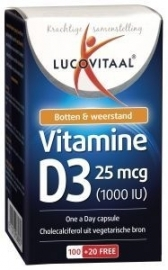 Lucovitaal Vitamine D3 25 mcg 120 capsules