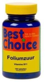 Best Choice Foliumzuur 400 vitamine B11 100 tabletten