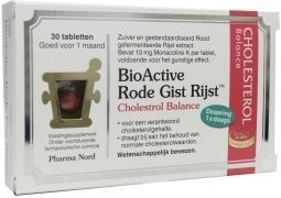 Pharmanord Bio active rode gist rijst 30 tabletten