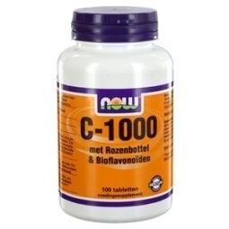 NOW Vitamine C 1000mg Bioflavonoïden & rose hips 100 tabletten