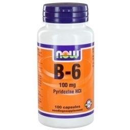 NOW Vitamine B-6 100mg 100 capsules