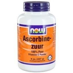 NOW Vitamine C Ascorbic Acid  Ascorbinezuur Poeder 227 gram