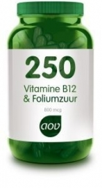 AOV 250 Vitamine B12 en Foliumzuur 60 capsules