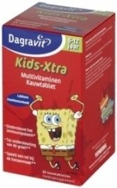 Dagravit Kids Multi Framboos 6 - 12 jaar 60 kauwtabletten