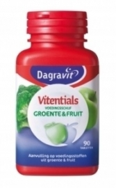 Dagravit Vitentials Groente Fruit 90 tabletten