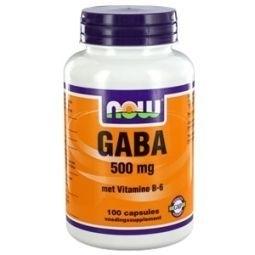 NOW Gaba 500mg 100 capsules