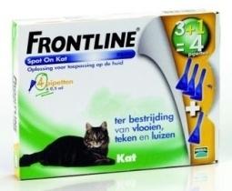 Frontline 3+1 pipet kat bestrijding vlo en teek