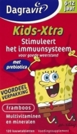 Dagravit Kids Multi Framboos 6 - 12 jaar 120 kauwtabletten