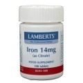 Lamberts IJzer iron 14mg 100 tabletten