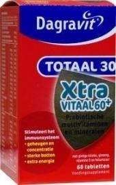 Dagravit Totaal 30 Xtra Vitaal 60+, 60 tabletten